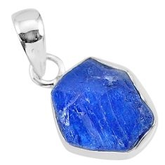 7.04cts natural blue tanzanite raw 925 sterling silver pendant jewelry r91681