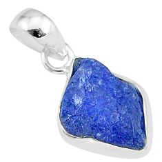 7.06cts natural blue tanzanite raw 925 sterling silver pendant jewelry r91685