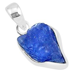 6.25cts natural blue tanzanite raw 925 sterling silver pendant jewelry r91703