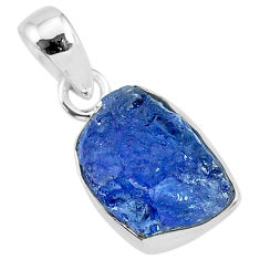 6.71cts natural blue tanzanite raw 925 sterling silver pendant jewelry r91712