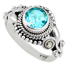 2.39cts natural blue topaz 925 sterling silver solitaire pendant jewelry r58126