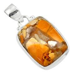 12.07cts natural brecciated mookaite australian jasper 925 silver pendant r46311
