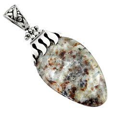 31.01cts natural bronze astrophyllite (star leaf) 925 silver pendant d45528