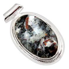 22.59cts natural bronze astrophyllite (star leaf) 925 silver pendant d47407