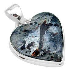 15.65cts natural bronze astrophyllite (star leaf) 925 silver pendant t13367