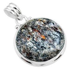 17.57cts natural bronze astrophyllite (star leaf) 925 silver pendant t18607