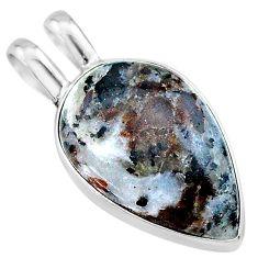 11.23cts natural bronze astrophyllite (star leaf) 925 silver pendant t22740