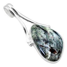 15.02cts natural bronze astrophyllite (star leaf) 925 silver pendant t22750