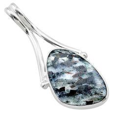 13.15cts natural bronze astrophyllite (star leaf) 925 silver pendant t22753