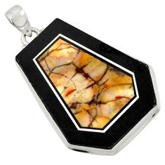 50.26cts natural bronze wild horse magnesite 925 sterling silver pendant d42791