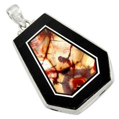 50.87cts natural bronze wild horse magnesite 925 sterling silver pendant d42799