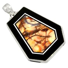 32.57cts natural bronze wild horse magnesite 925 sterling silver pendant d42806