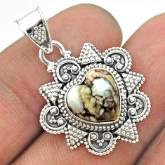 4.84cts natural bronze wild horse magnesite 925 sterling silver pendant t56061
