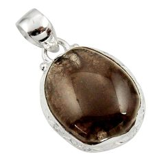 Clearance Sale- 16.73cts natural brown agni manitite 925 sterling silver pendant jewelry d45513