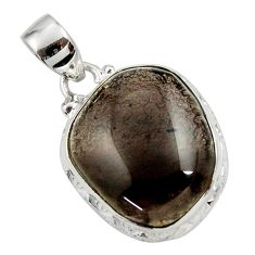 Clearance Sale- 16.73cts natural brown agni manitite 925 sterling silver pendant jewelry d45515