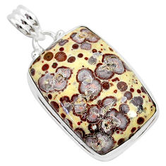 20.51cts natural brown asteroid jasper 925 sterling silver pendant r94857