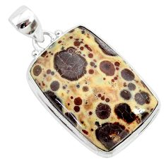 23.95cts natural brown asteroid jasper 925 sterling silver pendant r94859