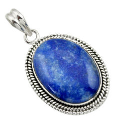 20.33cts natural brown blue quartz palm stone 925 sterling silver pendant r32238