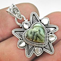 5.62cts natural brown botswana agate 925 sterling silver pendant jewelry t56063