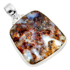 32.10cts natural brown boulder opal 925 sterling silver pendant jewelry r36261