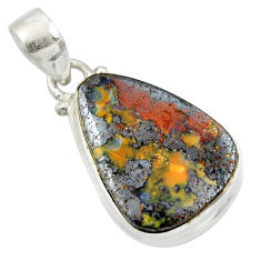 15.67cts natural brown boulder opal 925 sterling silver pendant jewelry r45183