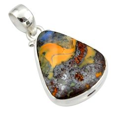 18.15cts natural brown boulder opal 925 sterling silver pendant jewelry r45204