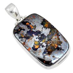 33.70cts natural brown boulder opal 925 sterling silver pendant jewelry r72942
