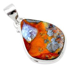12.62cts natural brown boulder opal 925 sterling silver pendant jewelry t22350