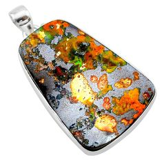 34.33cts natural brown boulder opal 925 sterling silver pendant jewelry t22371