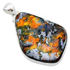 32.73cts natural brown boulder opal 925 sterling silver pendant jewelry t22376