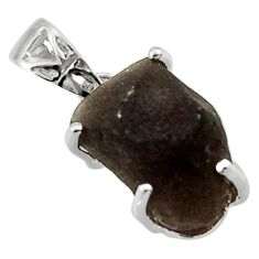 8.51cts natural brown chintamani saffordite 925 sterling silver pendant r29756