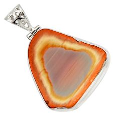 Clearance Sale- 23.46cts natural brown imperial jasper 925 sterling silver pendant d42215