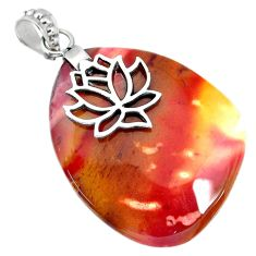 35.28cts natural brown mookaite 925 sterling silver pendant jewelry r90892