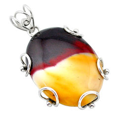 34.42cts natural brown mookaite 925 sterling silver pendant jewelry t31911