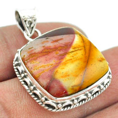 16.70cts natural brown mookaite 925 sterling silver pendant jewelry t53449