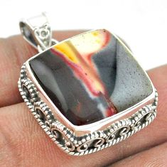 22.63cts natural brown mookaite 925 sterling silver pendant jewelry t53451