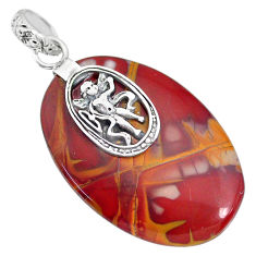 26.94cts natural brown noreena jasper 925 sterling silver pendant jewelry r91253