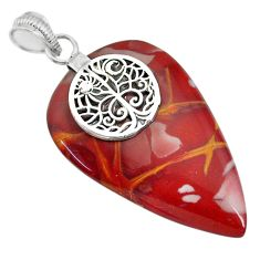 32.30cts natural brown noreena jasper 925 sterling silver pendant jewelry r91260