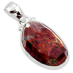 14.23cts natural brown pietersite (african) 925 sterling silver pendant r51083