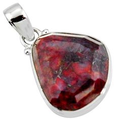 15.58cts natural brown pietersite (african) 925 sterling silver pendant r51086
