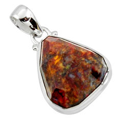 15.65cts natural brown pietersite (african) 925 sterling silver pendant r51098