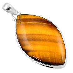 27.13cts natural brown tiger's eye 925 sterling silver pendant jewelry r53960