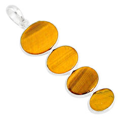 8.38cts natural brown tiger's eye 925 sterling silver pendant jewelry r87862