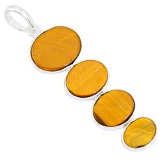 8.79cts natural brown tiger's eye 925 sterling silver pendant jewelry r87864