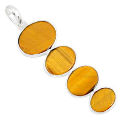 8.32cts natural brown tiger's eye 925 sterling silver pendant jewelry r87865