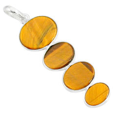 9.40cts natural brown tiger's eye 925 sterling silver pendant jewelry r87872