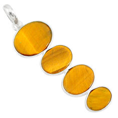 8.27cts natural brown tiger's eye 925 sterling silver pendant jewelry r87874