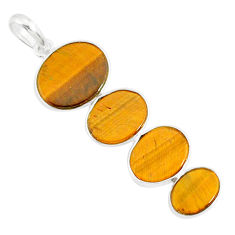 8.79cts natural brown tiger's eye 925 sterling silver pendant jewelry r87877
