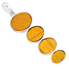 8.79cts natural brown tiger's eye 925 sterling silver pendant jewelry r87880