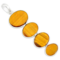 8.82cts natural brown tiger's eye 925 sterling silver pendant jewelry r87928
